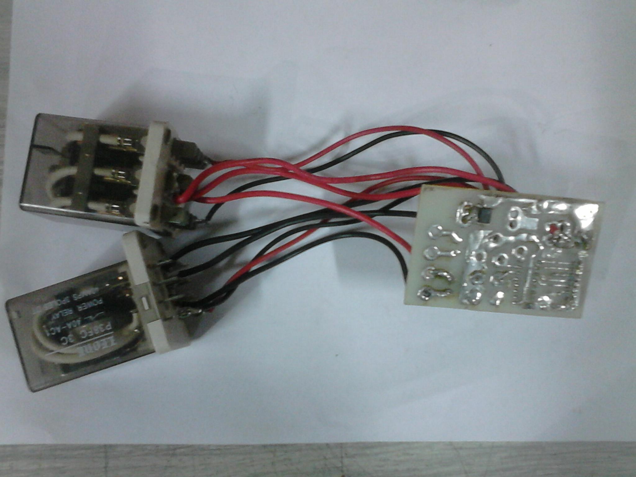 Load testing setup: tiny relay-MOSFET motor driver