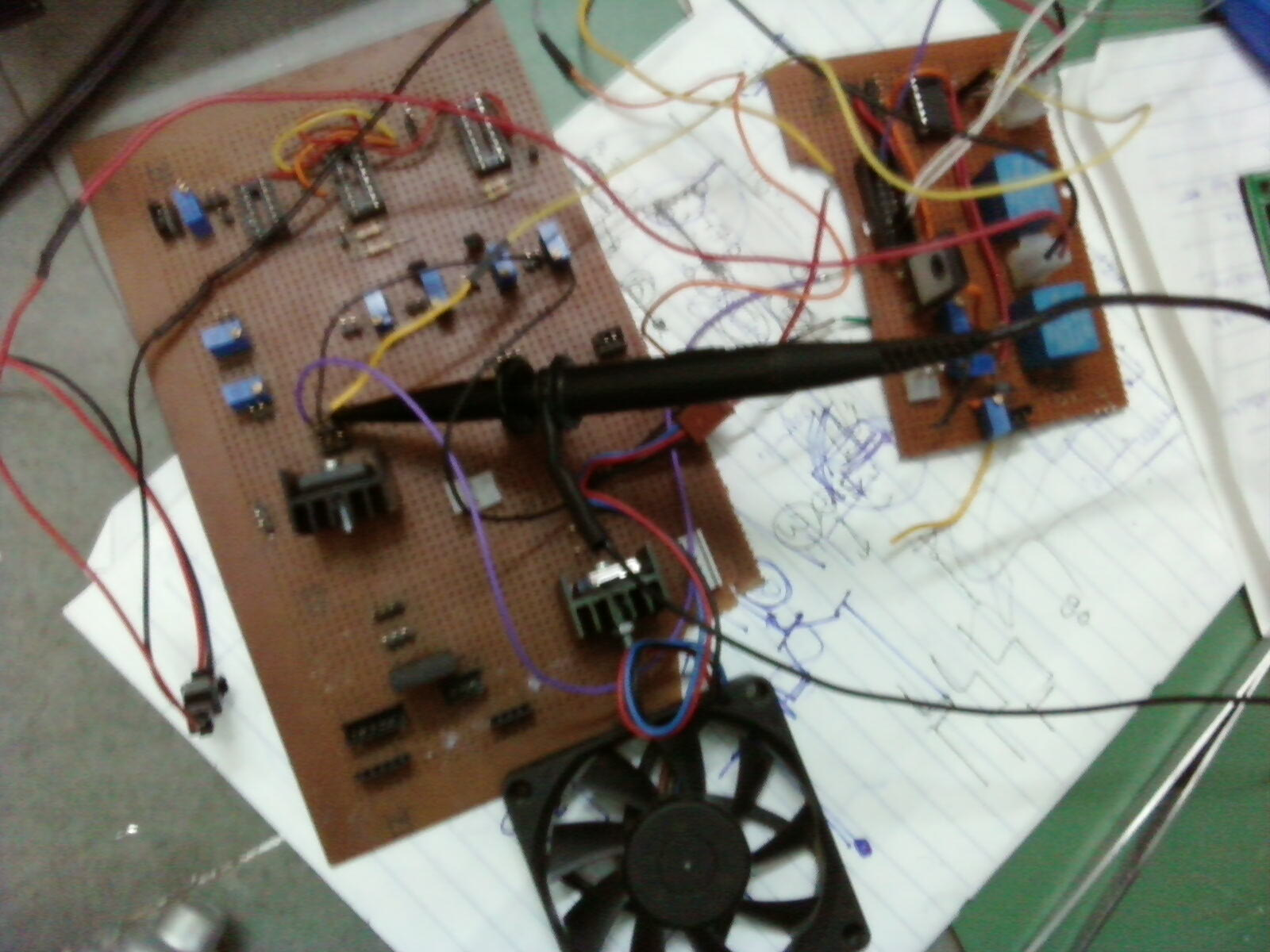 Initial prototypes of relay-MOSFET motor driver