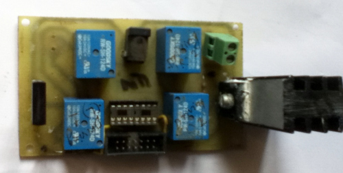 Relay-MOSFET motor driver: PCB design
