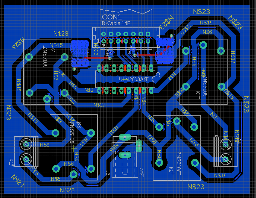 PCB design: relay-MOSFET motor driver