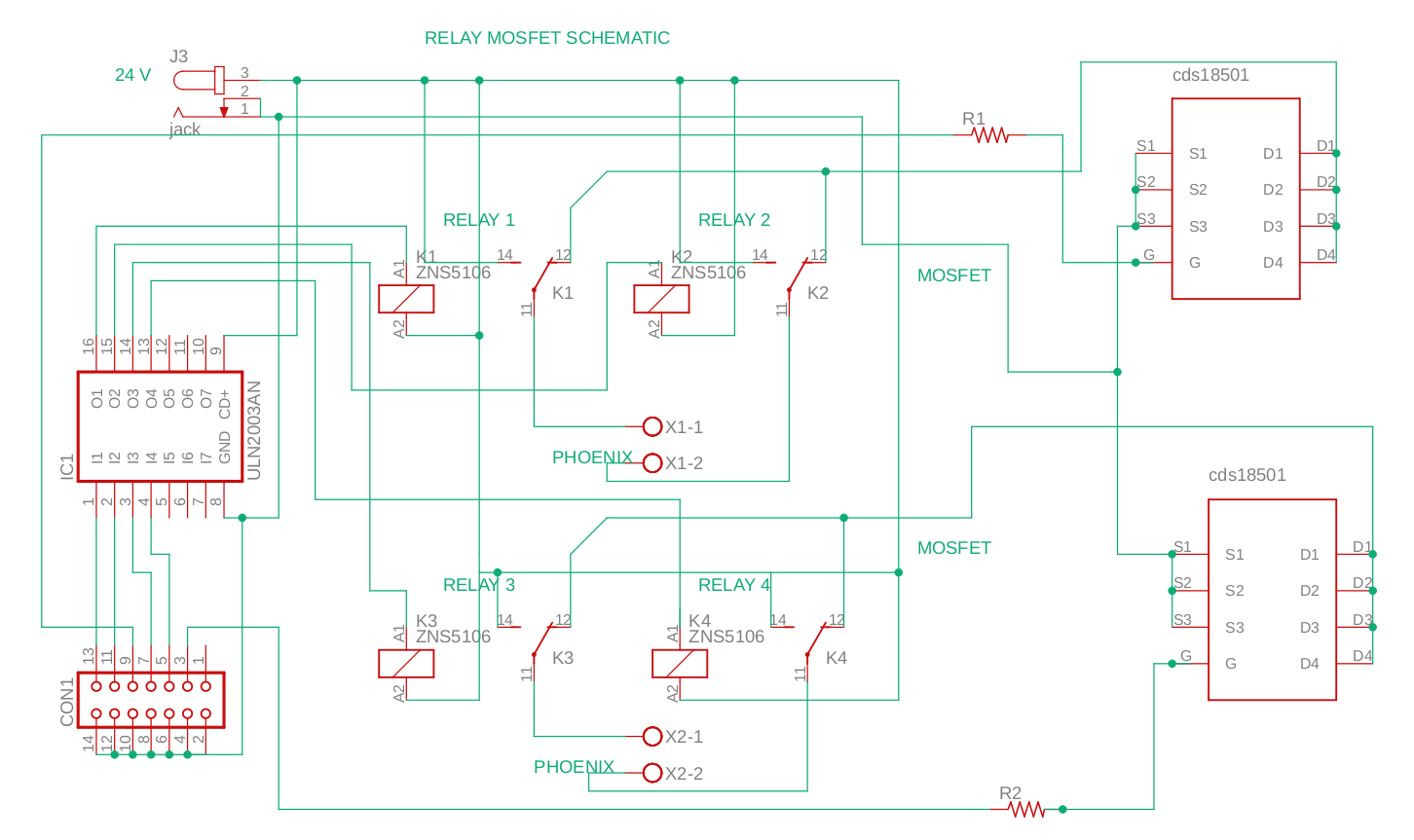 Schematic: relay-mosfet dc motor driver
