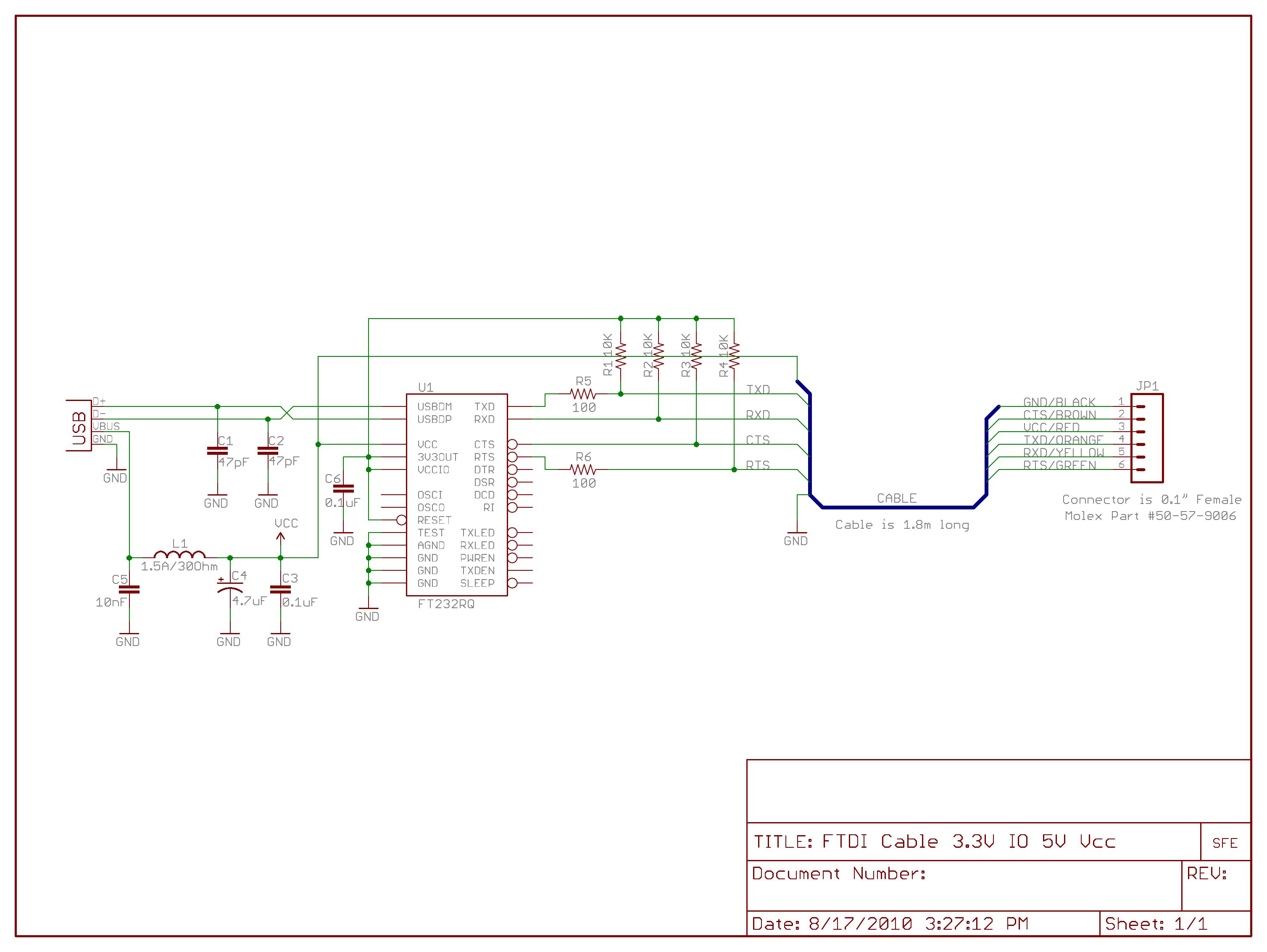 FTDI programmer board schematic