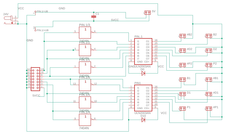 ULN2003 IC dual PCB