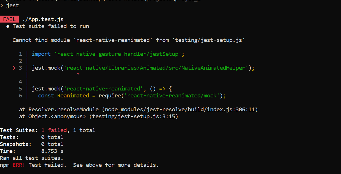 TESTS FAILED WITH JSET