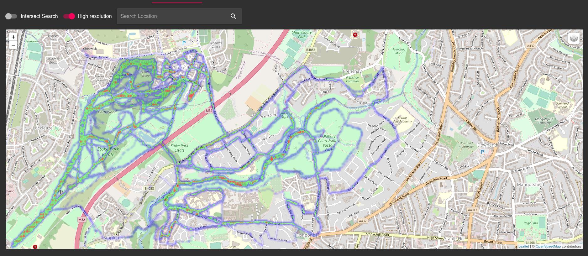 Pace/location heatmap