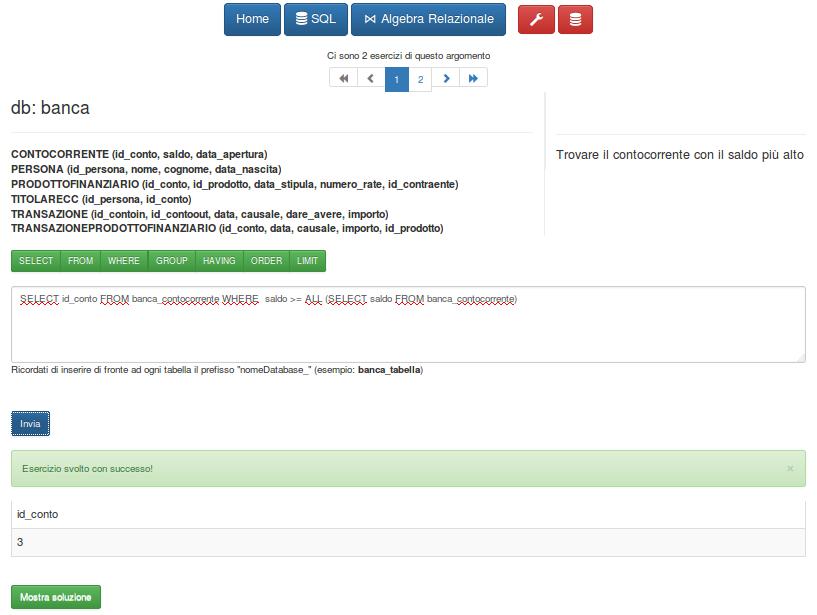 Database Exercise System