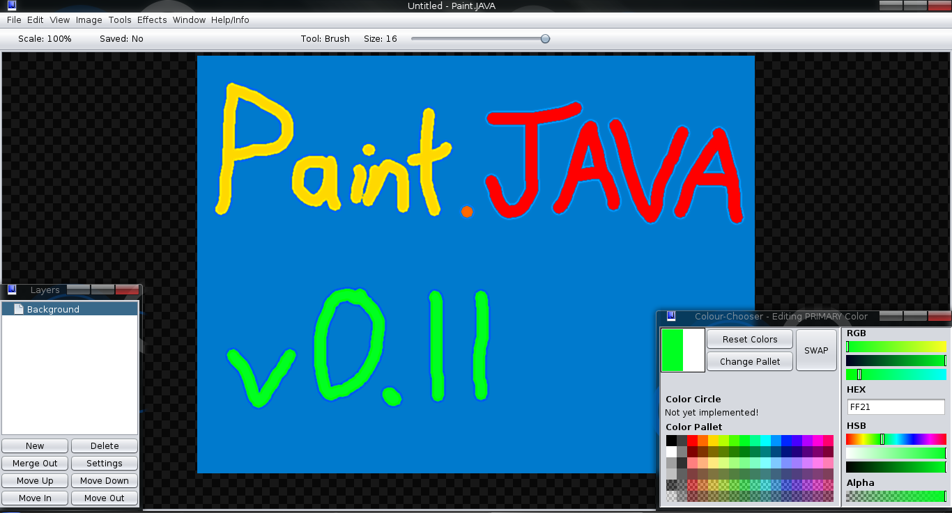 project report on java paint brush Paint brush is intresting paint program which has symmetry function which give some good designs this program is same as mspaint with some more/less features save the program in two files paintc and mousec in same directory and compile each file and runpaintc.