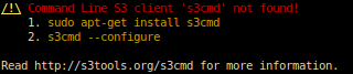 Dependency on S3cmd