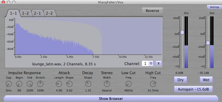 KlangFalter: Yet another convolution plugin - Useful Tools and
