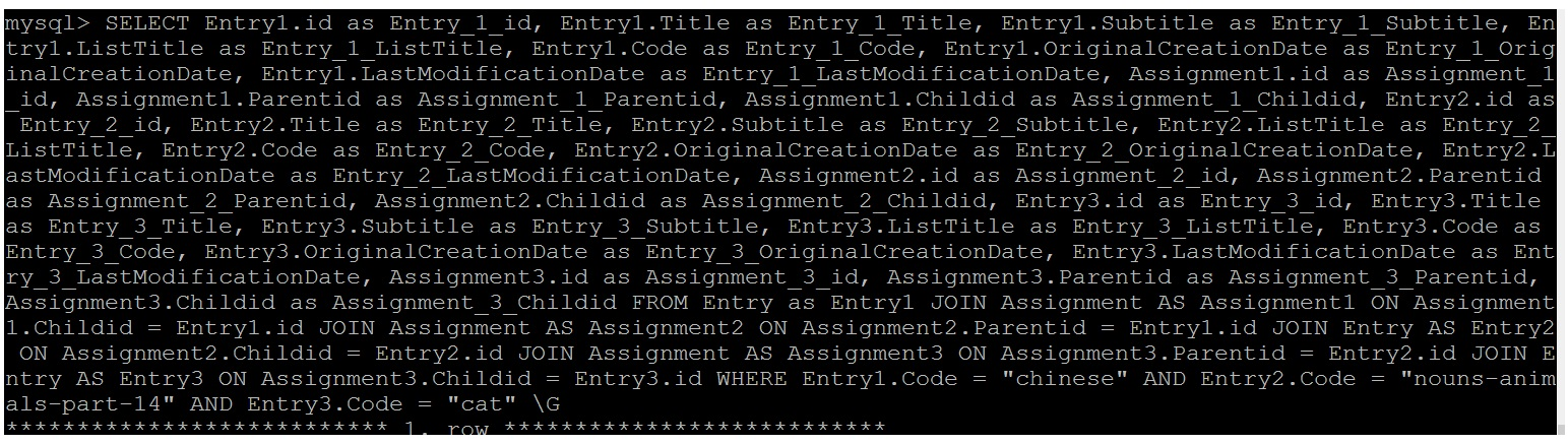 Image of Entry Query