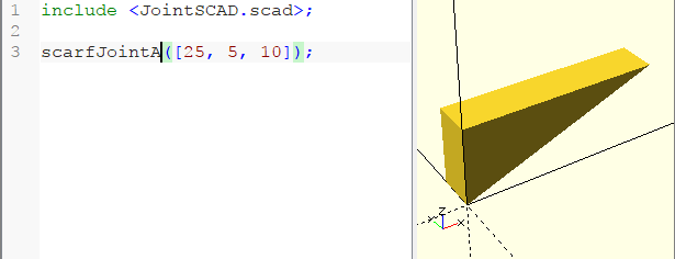 Scarf Joint A