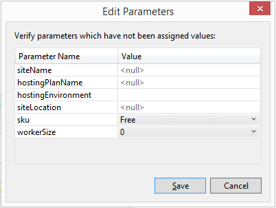 Edit Parameters Dialog Box