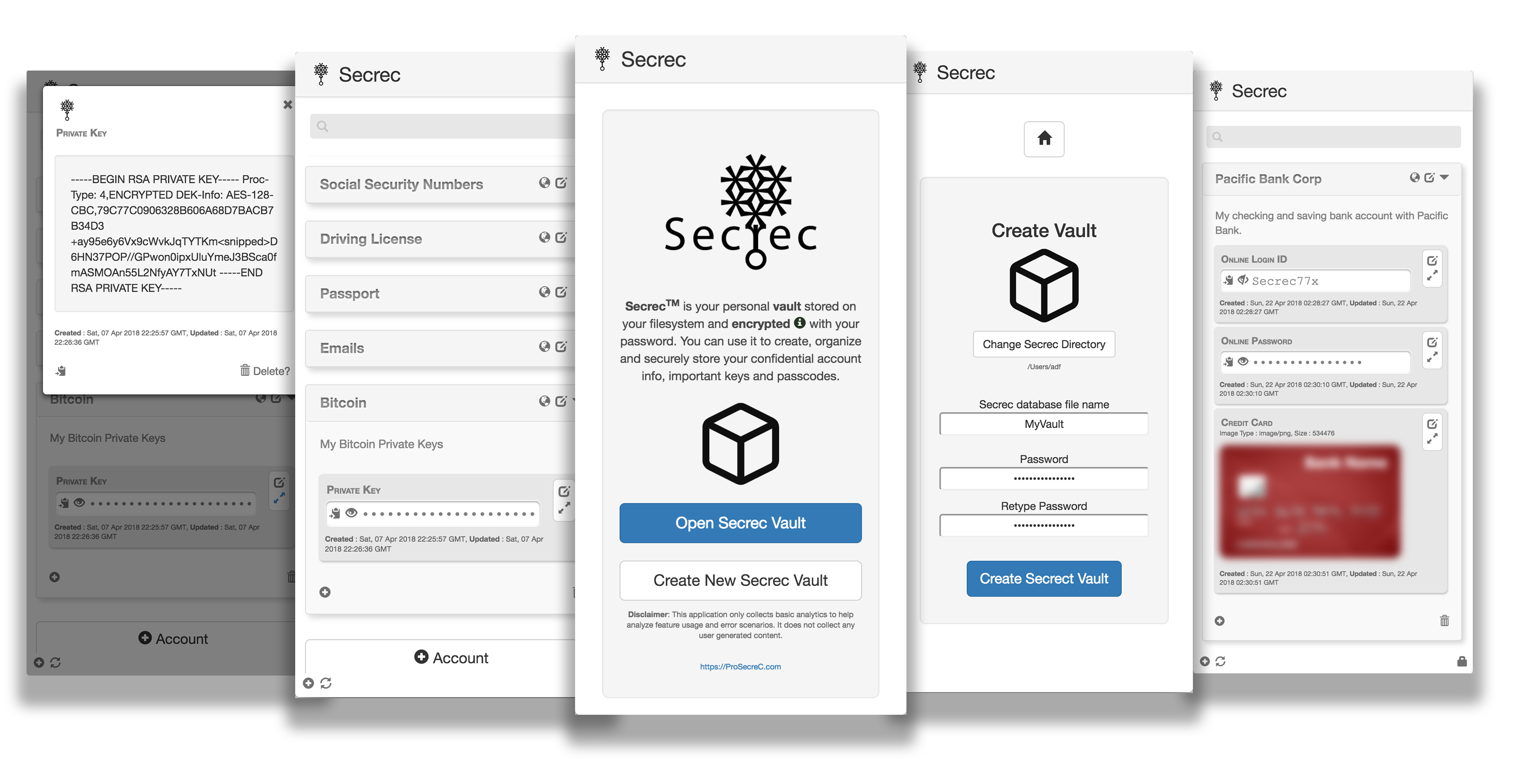 Secrec App Screenshot