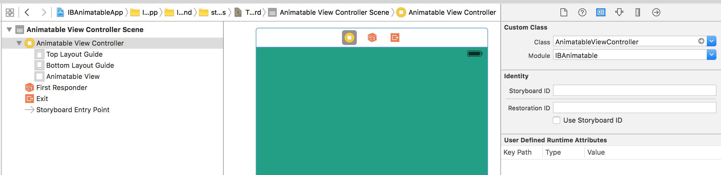 Transition - AnimatableViewController