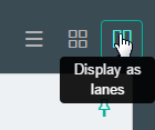 Click Display as lanes button