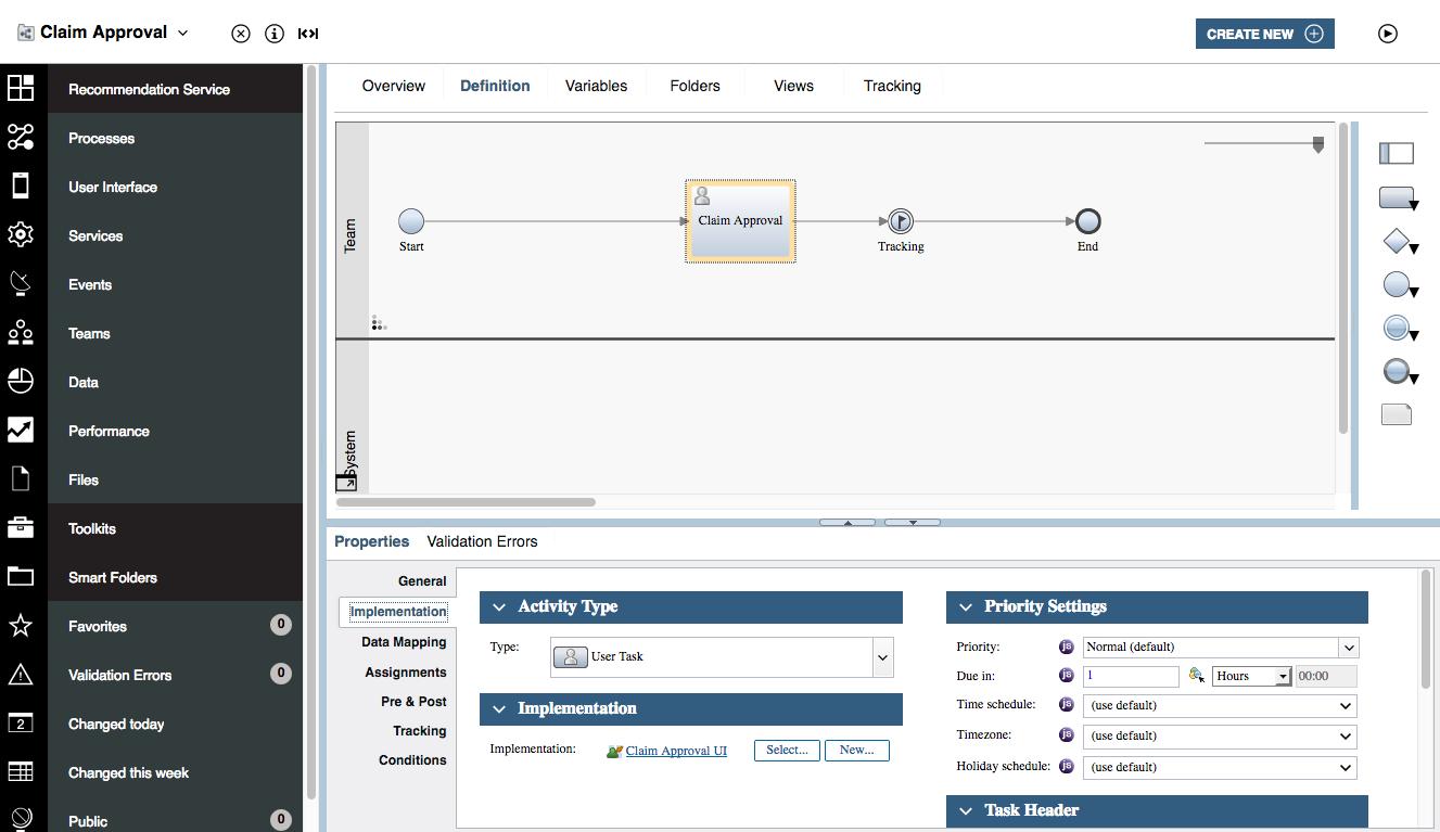 BPM recommendation service with BAI - IBM Watson Studio