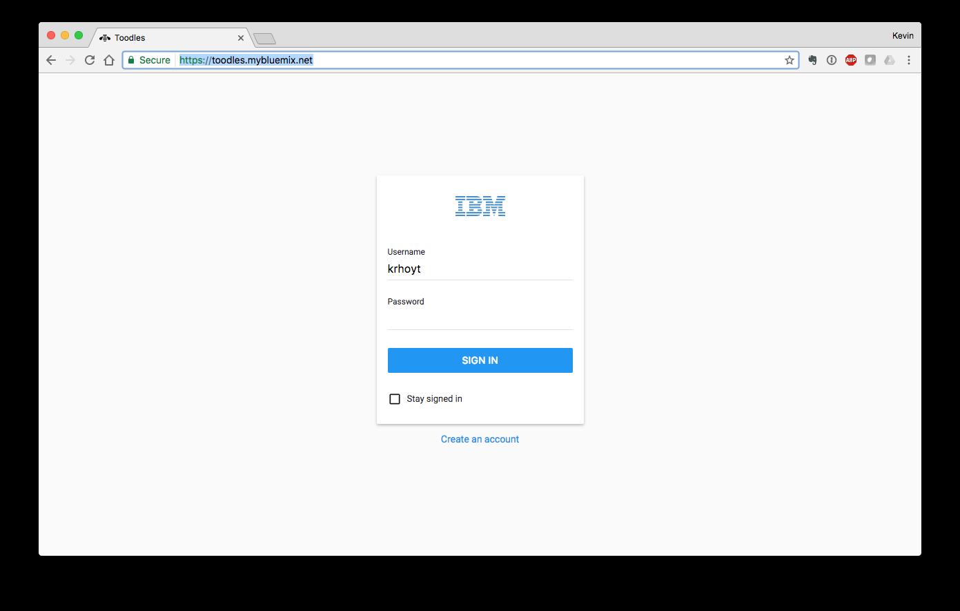 To-do login screen