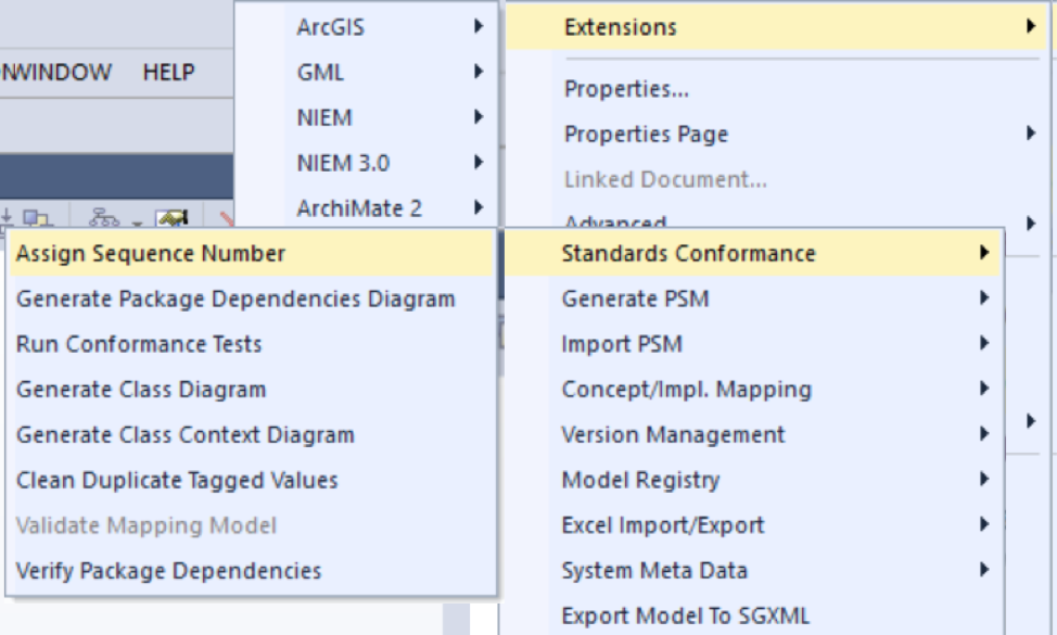 Figure 4. Stacked context menus to access SolidGround functions.