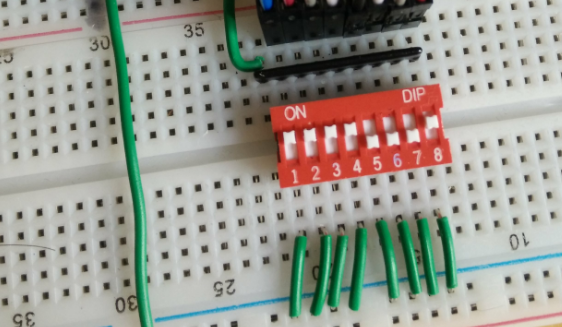 Input an 8-bit value using a DIP switch