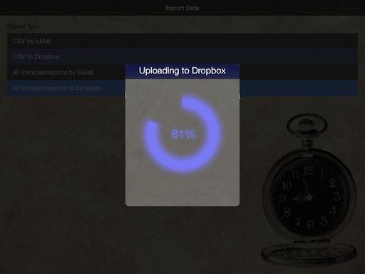 Dropbox Upload in Progress (iPad)