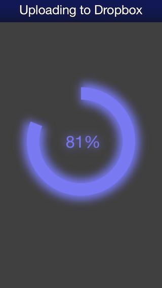 Dropbox Upload in Progress (iPhone)