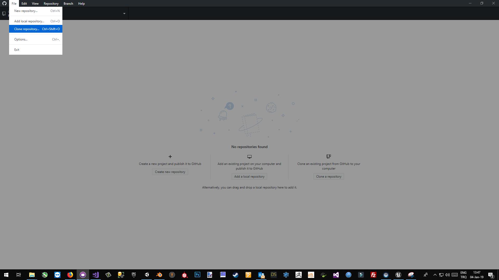 Screenshot of Clone Repository
