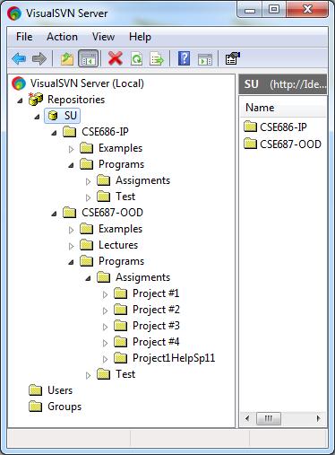 Folders in VisualSVN Server