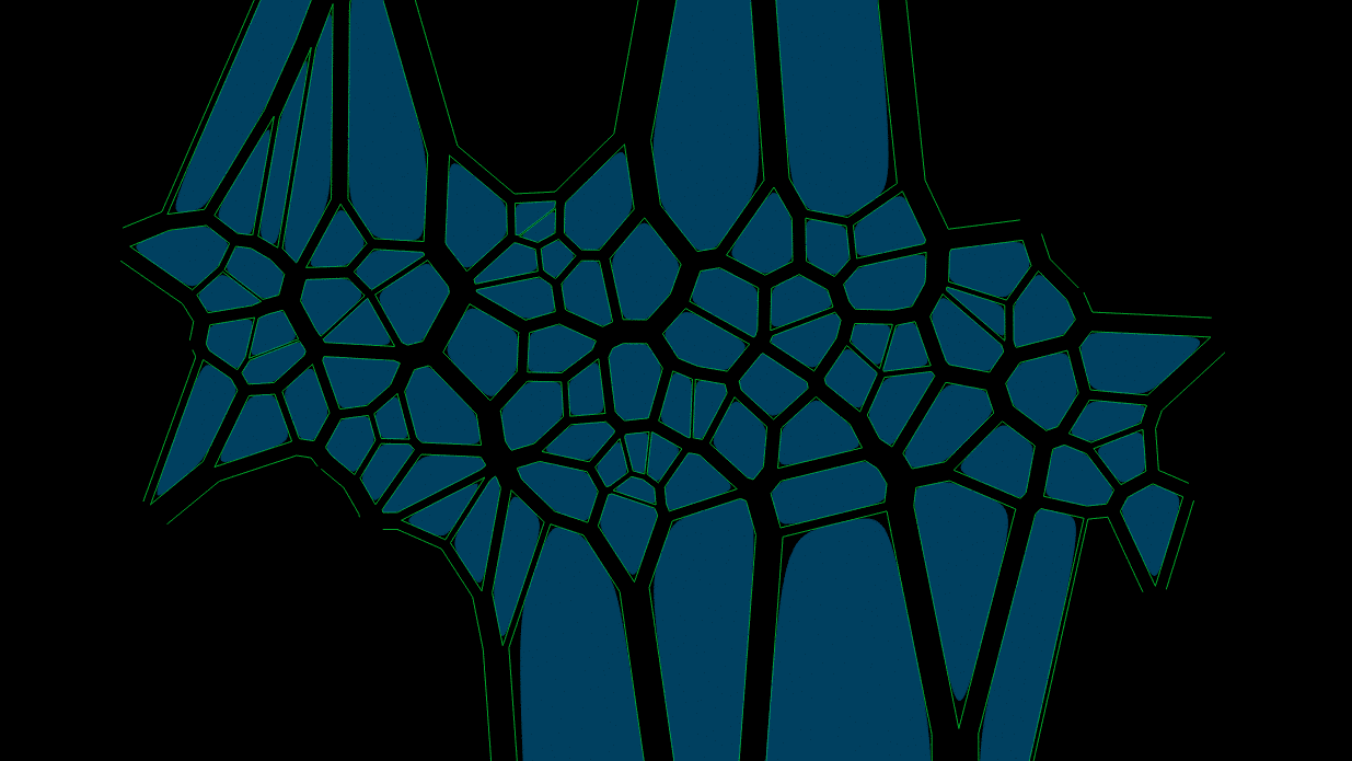 Voronoi Bézier Cells with scaling