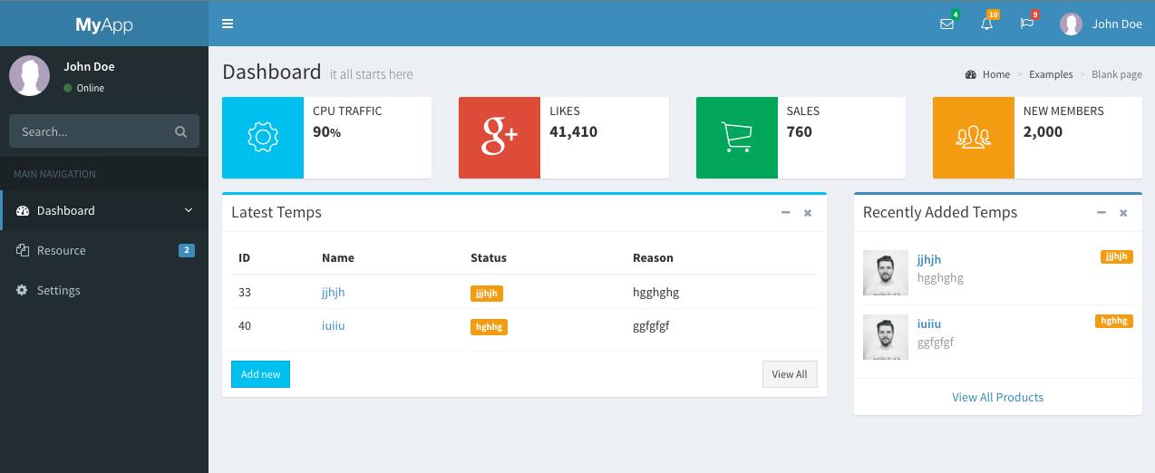 Laravel 5 Admin Starter