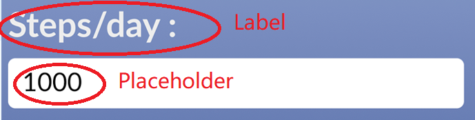 Example label placeholder