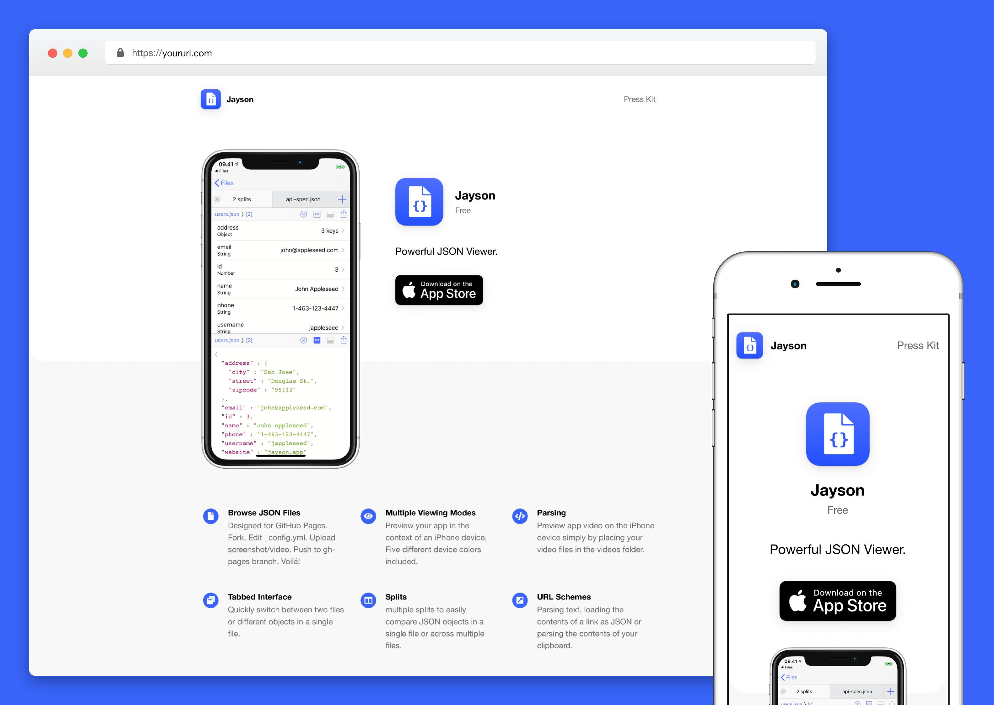 Automatic GatsbyJS App Landing Page