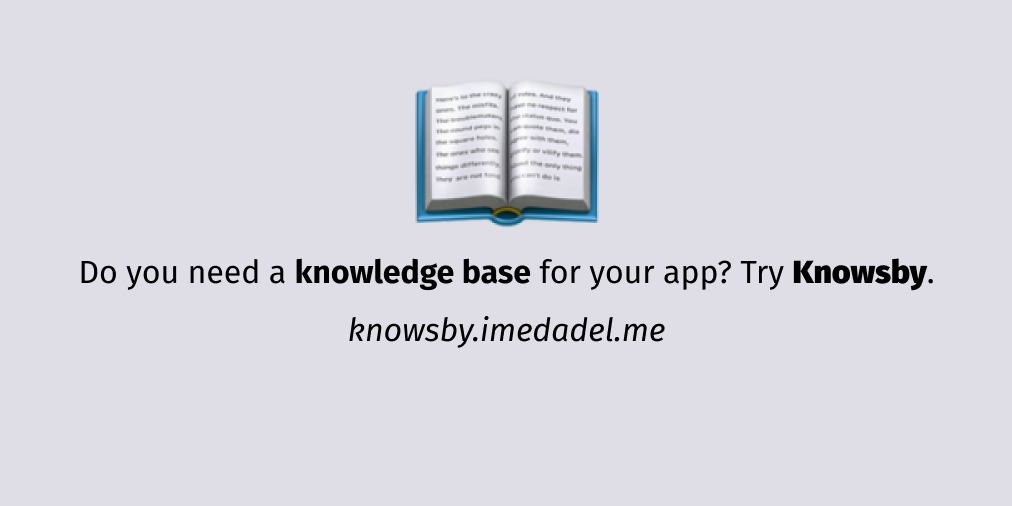 Knowsby, a knowledge base using Markdown and GatsbyJS