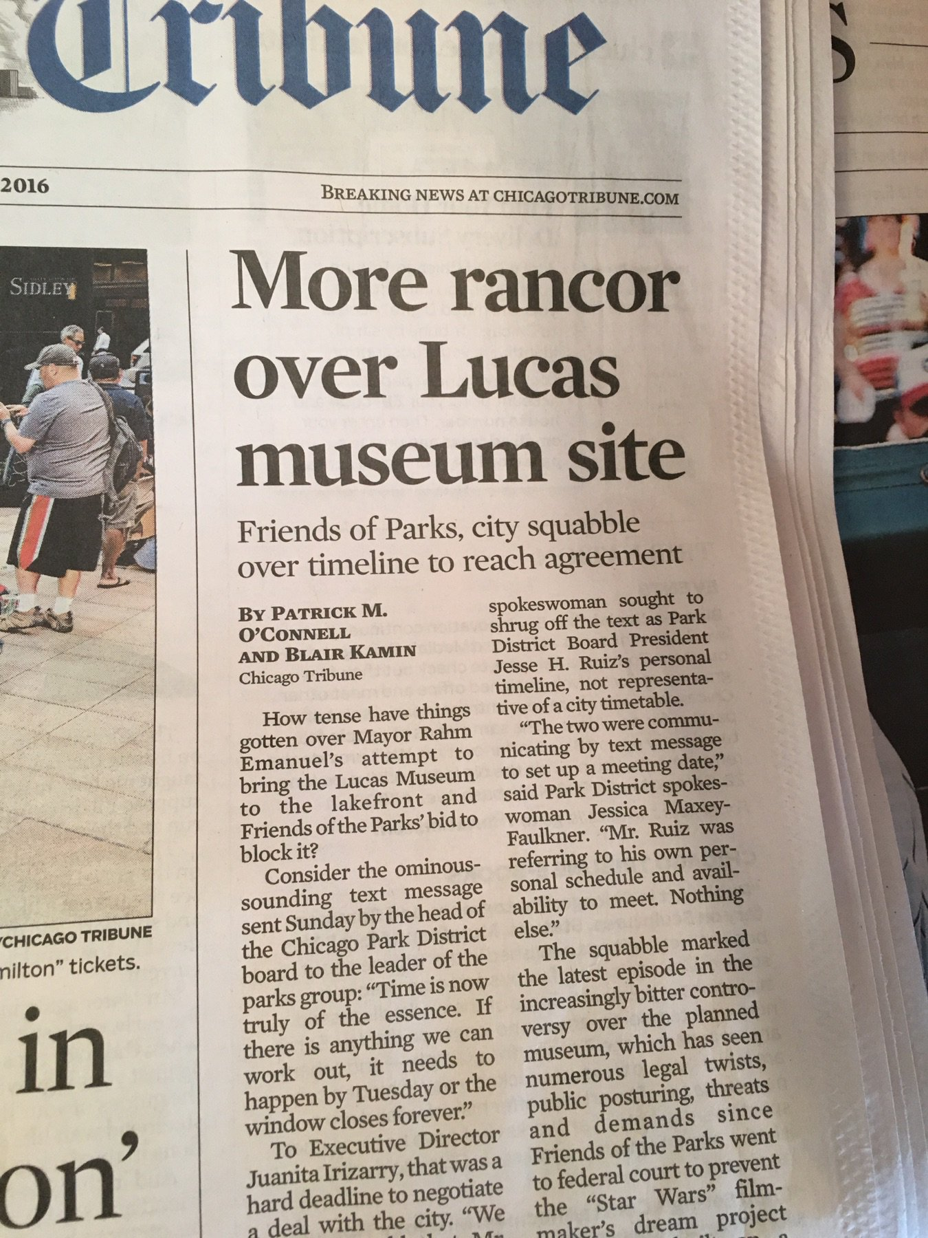 More rancor over Lucas museum site