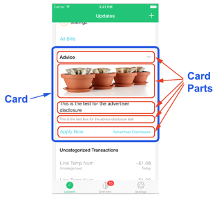 CardPart Example in Mint