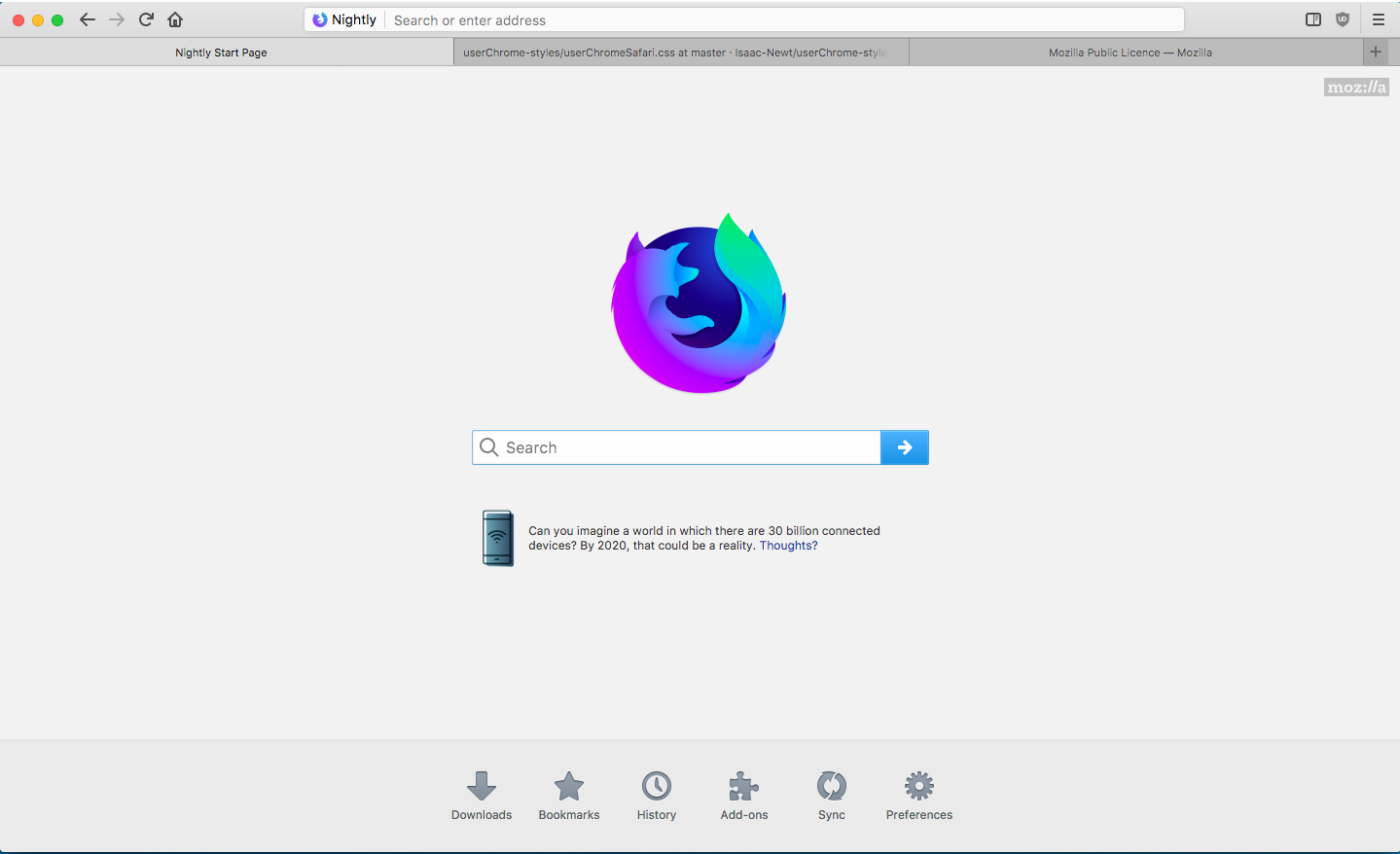 Safari style (for 57+) : FirefoxCSS