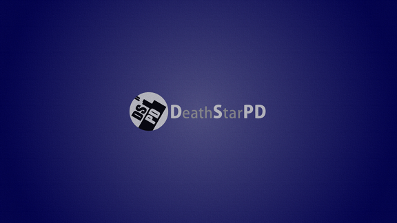 Death Star PD logo on an blue background