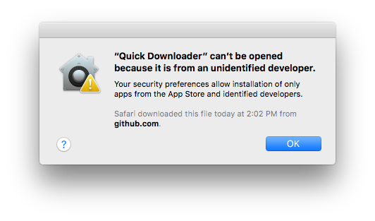 Unknown Developer Error