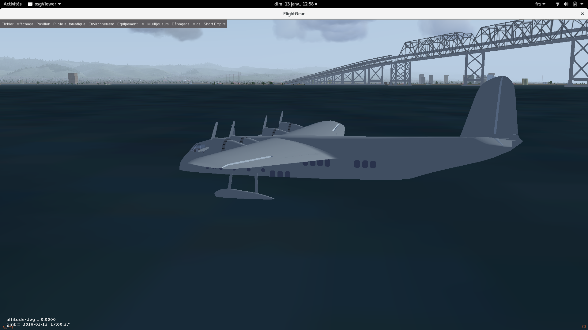 FlightGear is launched
