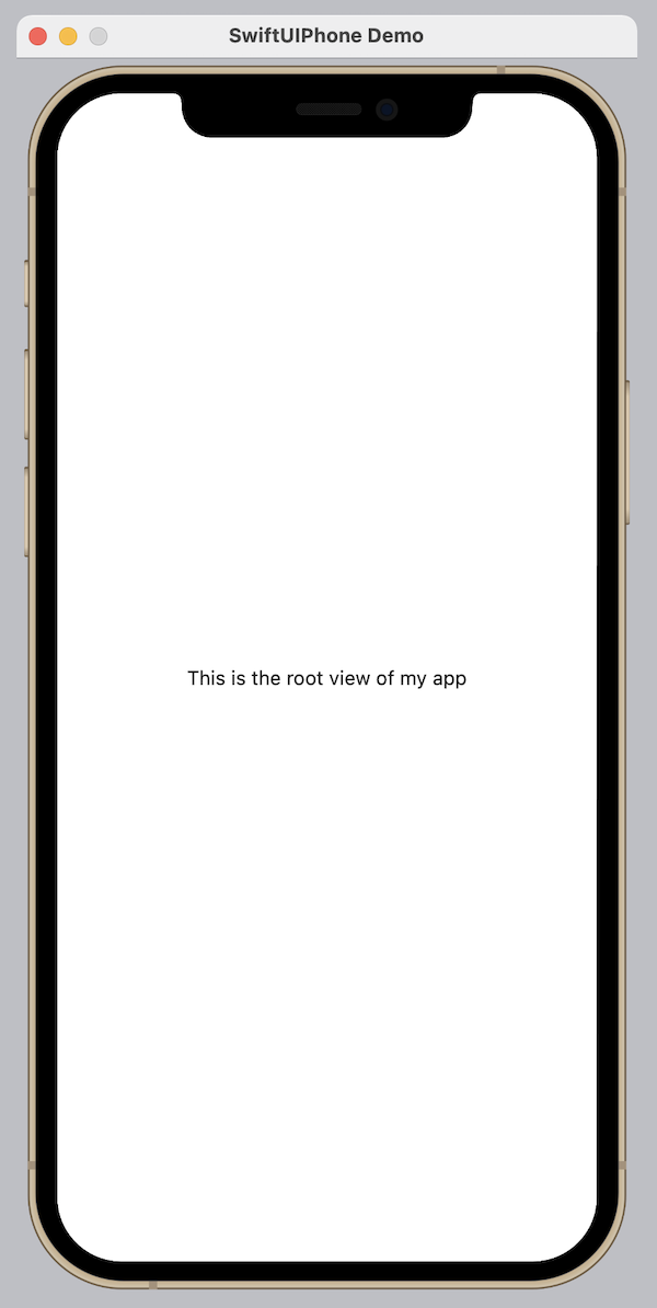 SwiftUIPhone Screenshot