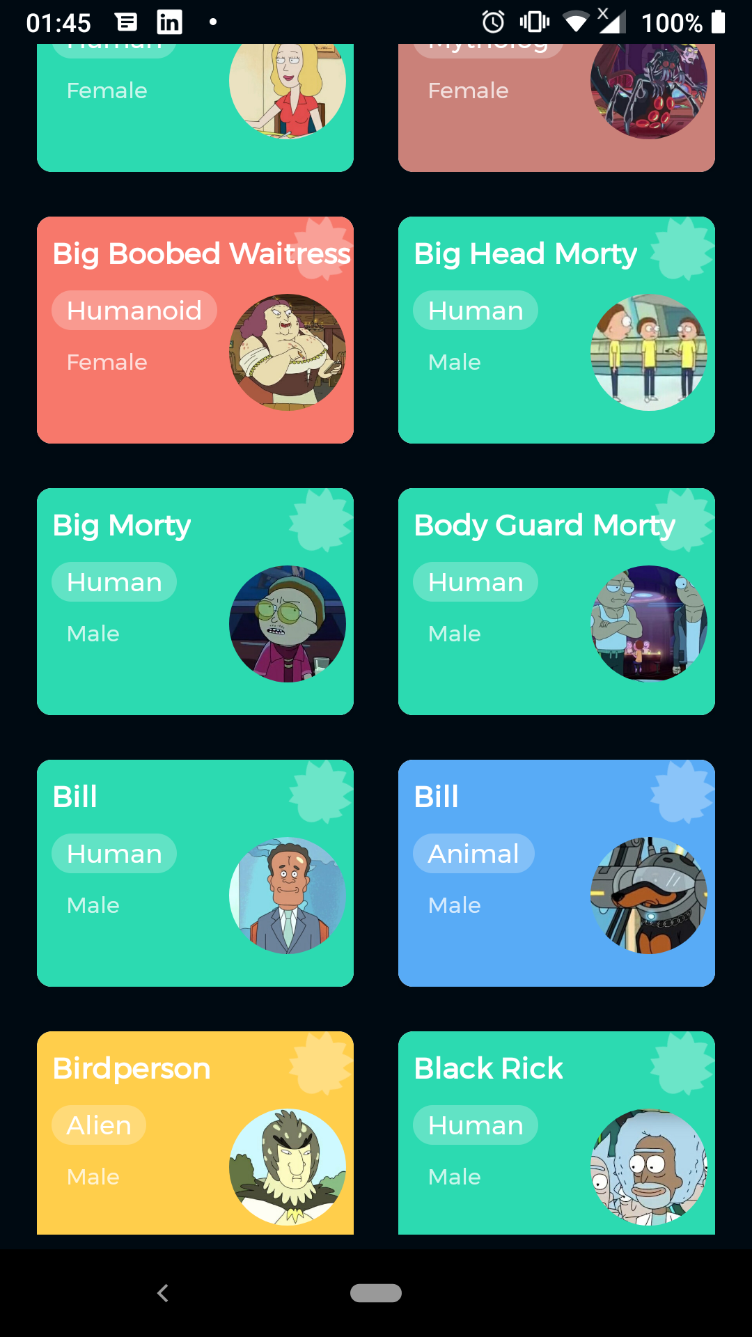 Rick And Morty App