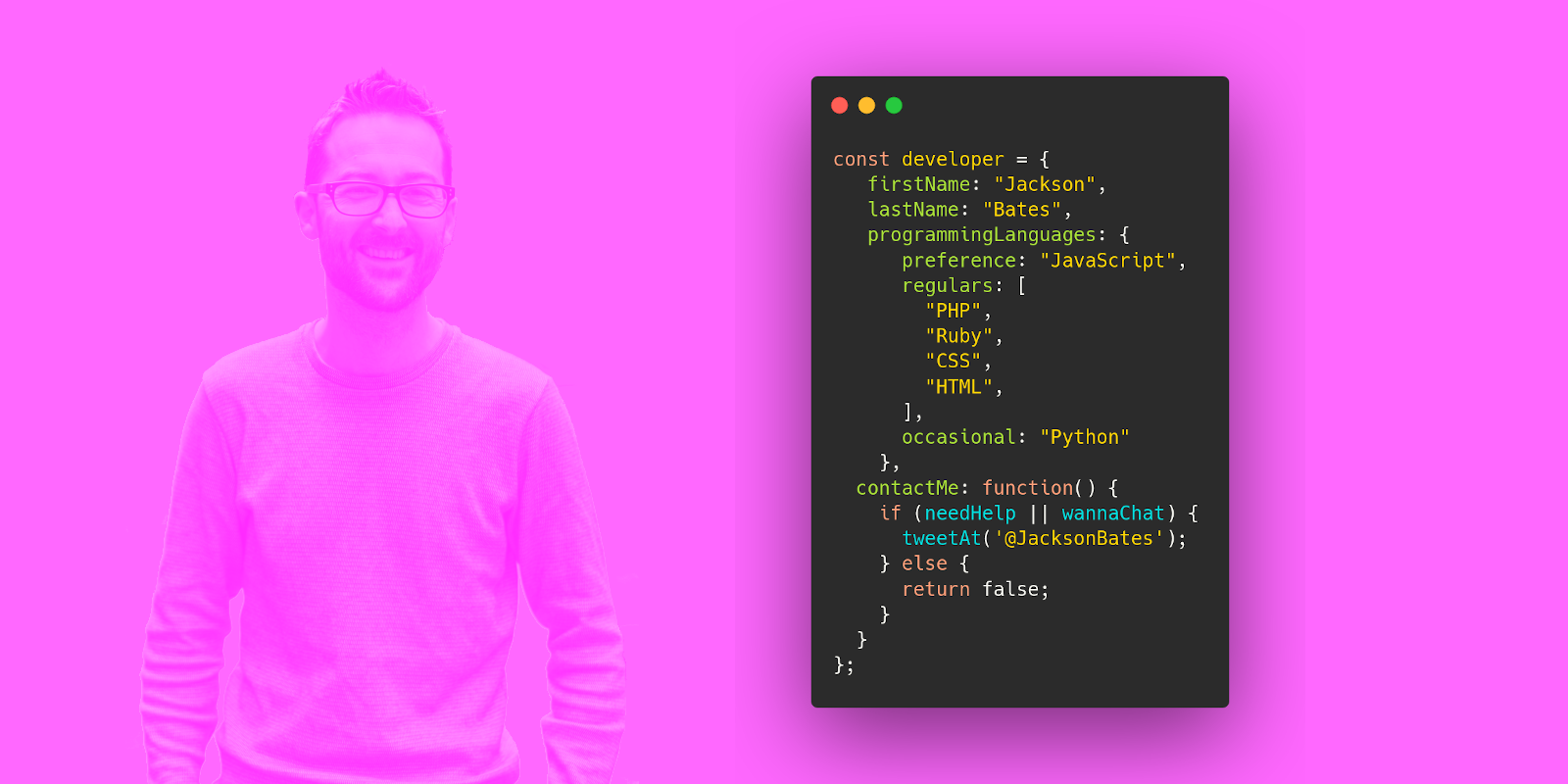 Jackson Bates is a software developer specialising in JavaScript