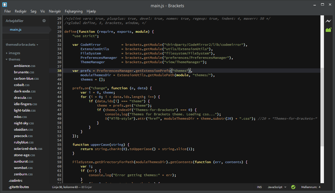 Jacse/themes-for-brackets | Porter io