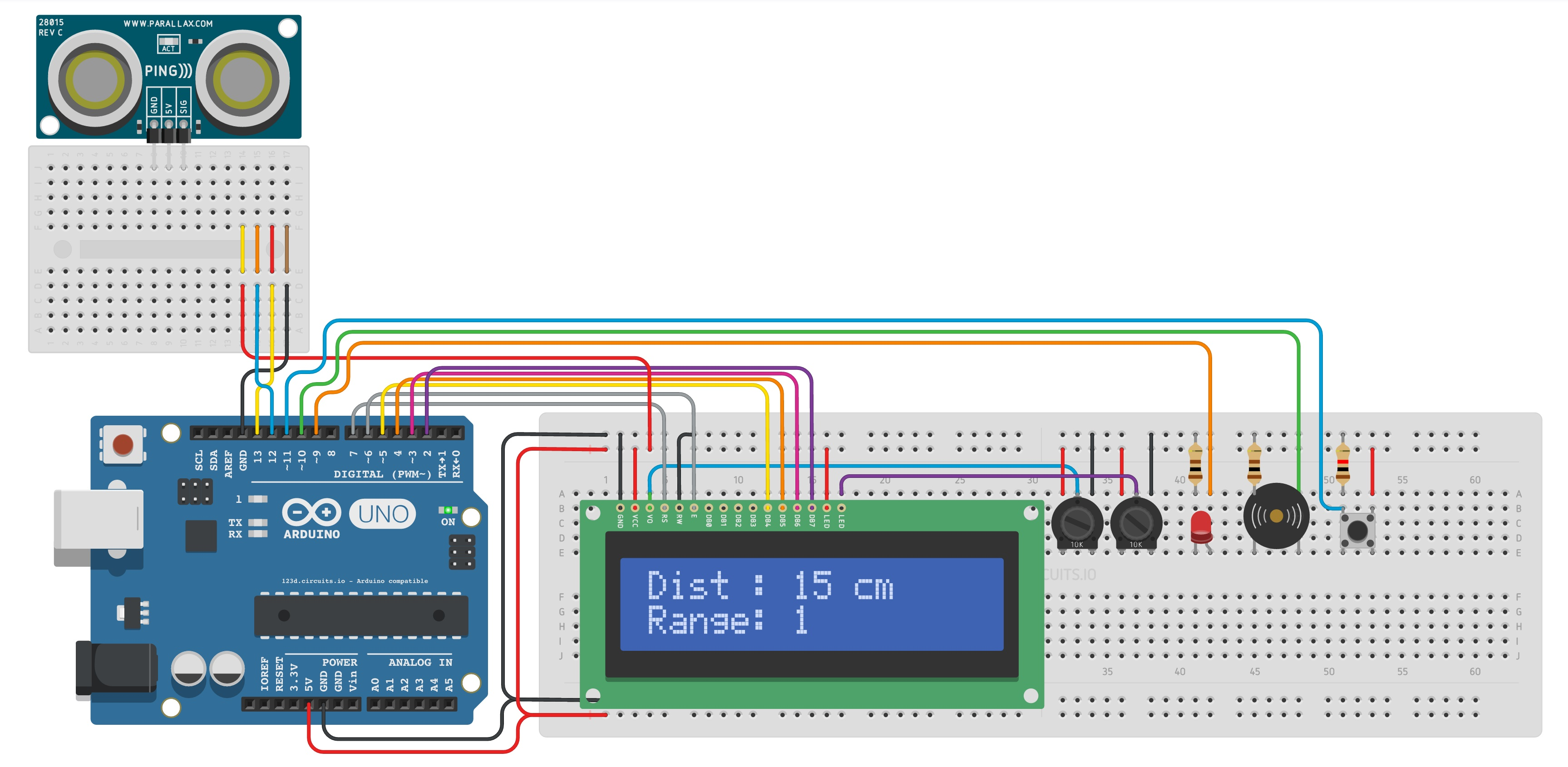 Github Jaimemartinsoler Distancesensor Arduino Ultrasonic Interfacing Sensors With Pic Microcontroller Distance Sensor Perfect For Cars Lcd Screen Led Buzzer And Pause Button Check A Real Time Emulation In Circuitsio