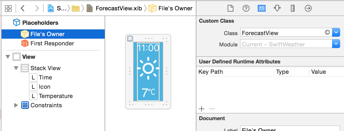 Custom UIView