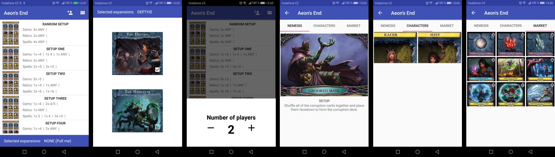 Player Screens