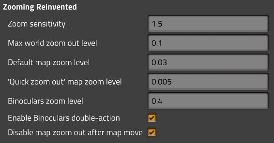 Mod settings