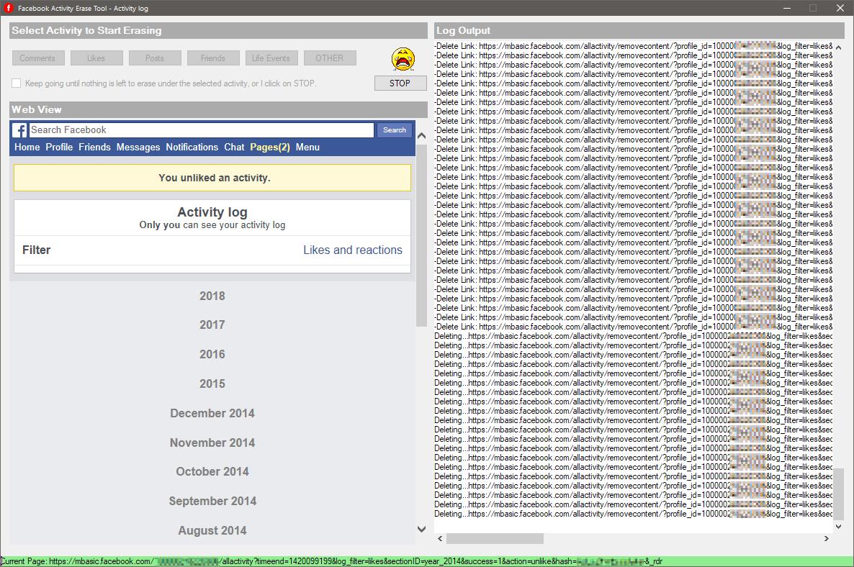Delete Facebook Activity