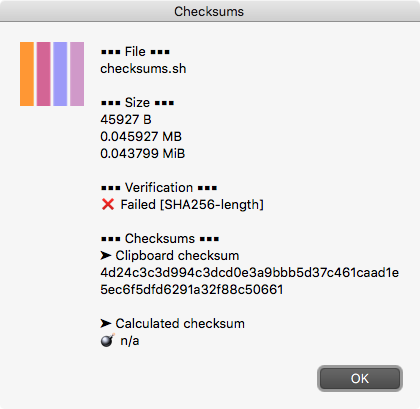 checksum-failed