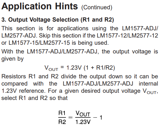 voltage selection