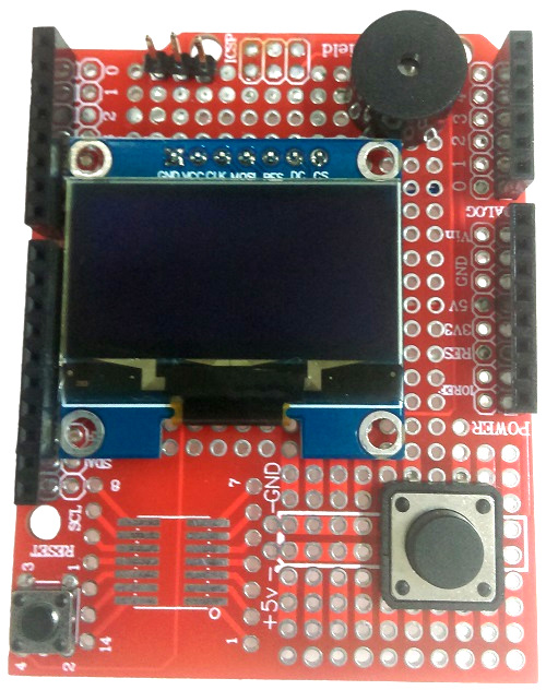 top of prototyping shield